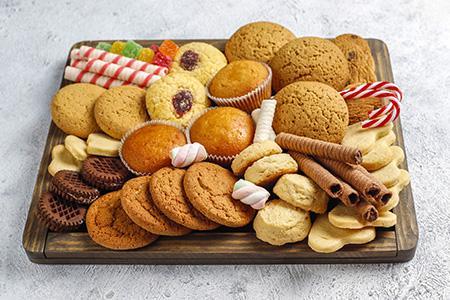 Christmas sweets platter.